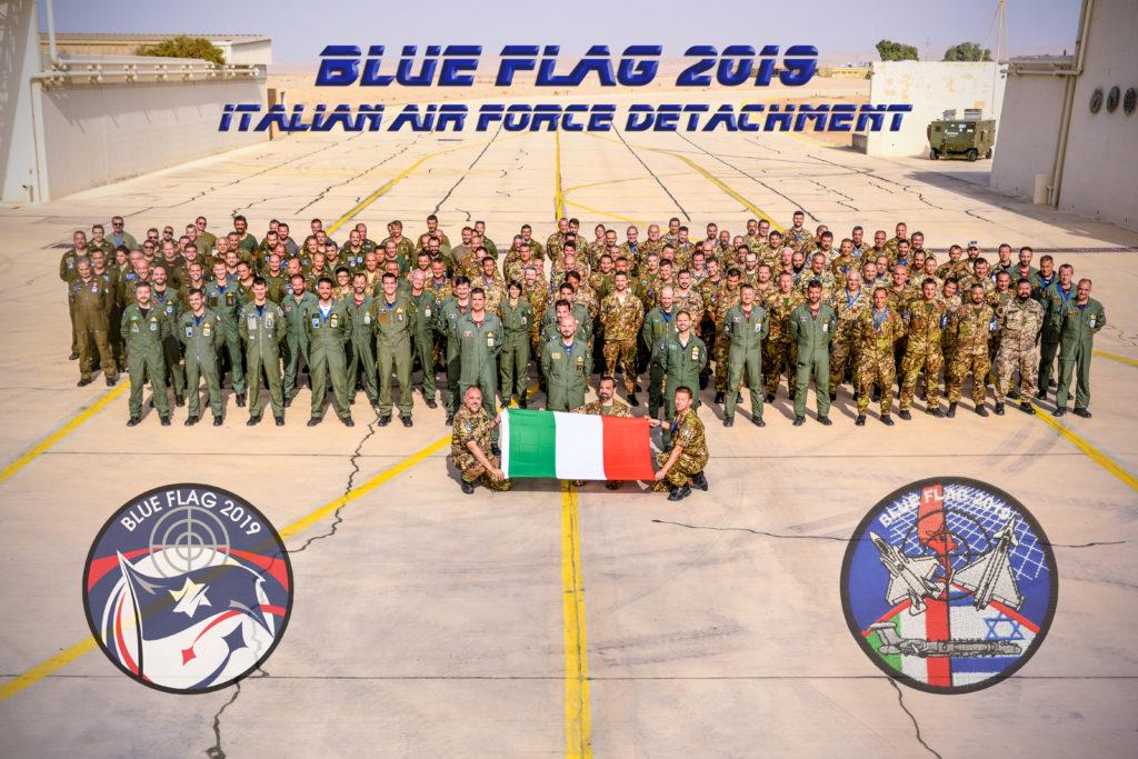 Il personale italiano impegnato nell'esercitazione. (Aeronautica Militare)