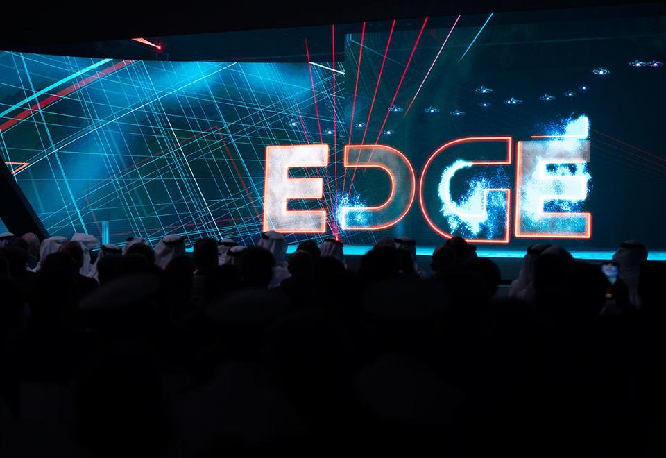 Un momento della cerimonia di presentazione di Edge, tenutasi il 5 novembre al St. Regis Saadiyat Island Resort di Abu Dhabi.