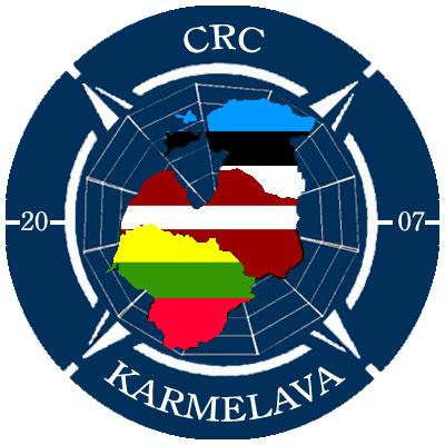 Lo stemma del CRC congiunto di Karmelava (Lituania), che fino ad oggi ha assicurato la sorveglianza dello spazio aereo di tutte e tre le Repubbliche baltiche.