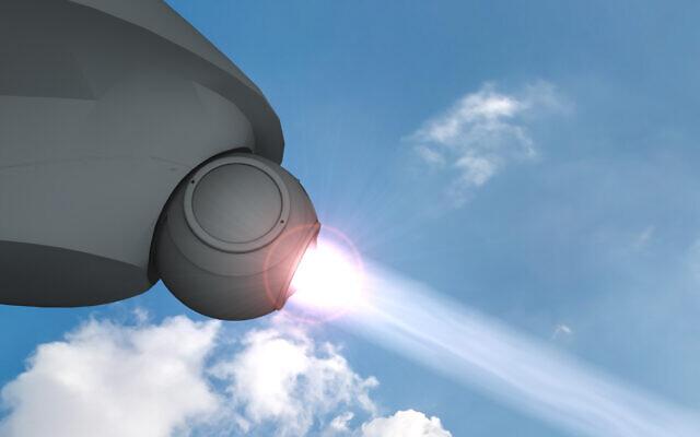 Rappresentazione del futuro sistema laser nella versione aeroportata. (Israel's Ministry of Defence)    Israele nuova tecnologia laser