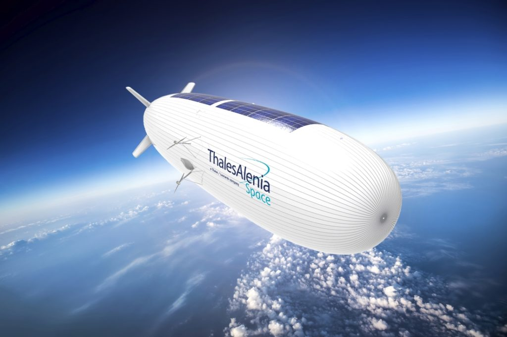 Lo Stratobus opera a un'altitudine di 20.000 metri. (Thales Alenia Space)