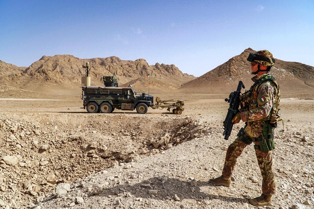 Militare italiano in servizio in Afghanistan. (Ministero della Difesa)
