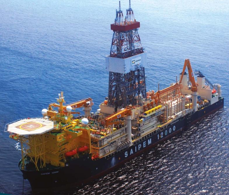 La nave per prospezioni petrolifere Saipem 12000 (fonte Saipem).  Turchia Cipro Eni