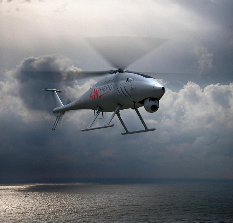 Il RUAS (Rotary Unmanned Air System) AWHERO, prodotto da Leonardo. (Leonardo)  Leonardo addestramento droni   Leonardo addestramento droni   Leonardo addestramento droni