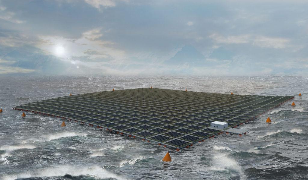 Saipem e Equinor hanno firmato un accordo di cooperazione per lo sviluppo del solare galleggiante. (Moss Maritime)  Saipem Equinor Floating Photovoltaic  Saipem Equinor Floating Photovoltaic  Saipem Equinor Floating Photovoltaic