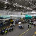La linea di produzione dei tanker Boeing KC-46 Pegasus