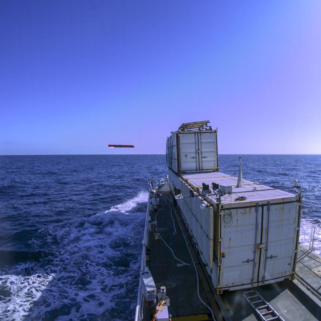 L'istante prima dell'impatto del missile con il bersaglio designato durante il test del 20 febbraio scorso. (© DGAEMT - Armées)