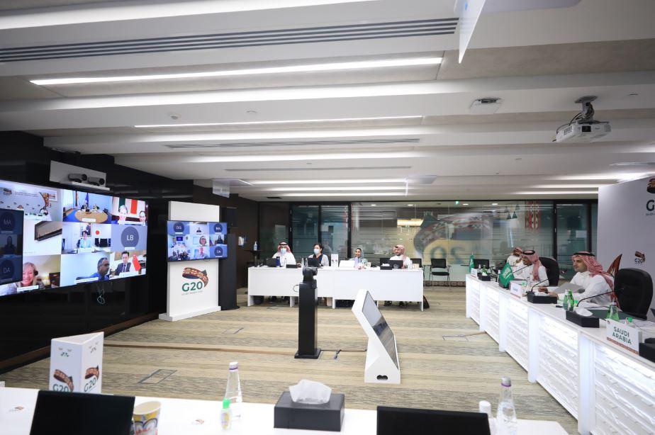 Una fase della videoconferenza del G20. (Foto da: G20 Saudi Arabia)