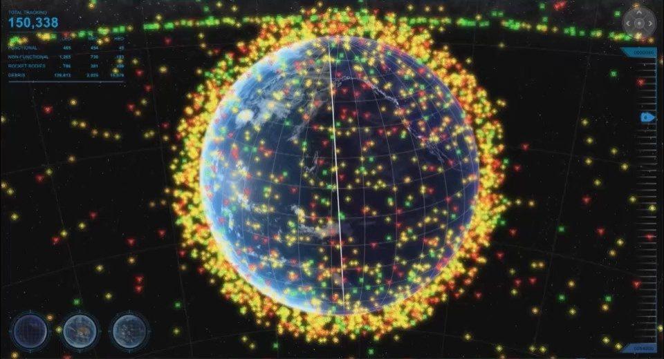 Ogni anno vengono spesi centinaia di milioni di dollari per manovrare i veicoli spaziali affinché non entrino in collisione con i relitti e detriti tecnologici orbitanti intorno alla Terra. (Lockheed Martin)  USSF radar Space Fence