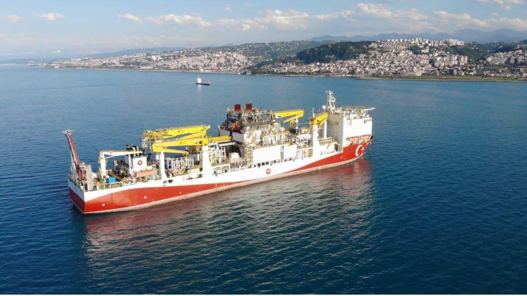 La nave turca Fatih. (Foto da: Account Twitter del ministro Fatih Dönmez)