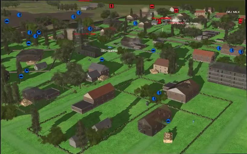 Fotogramma dal video di presentazione del wargame digitale Combat Mission di Slitherine. (DSTL - UK MoD)   DSTL e Slitherine