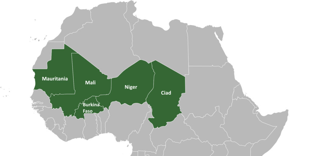 I paesi del G5 Sahel