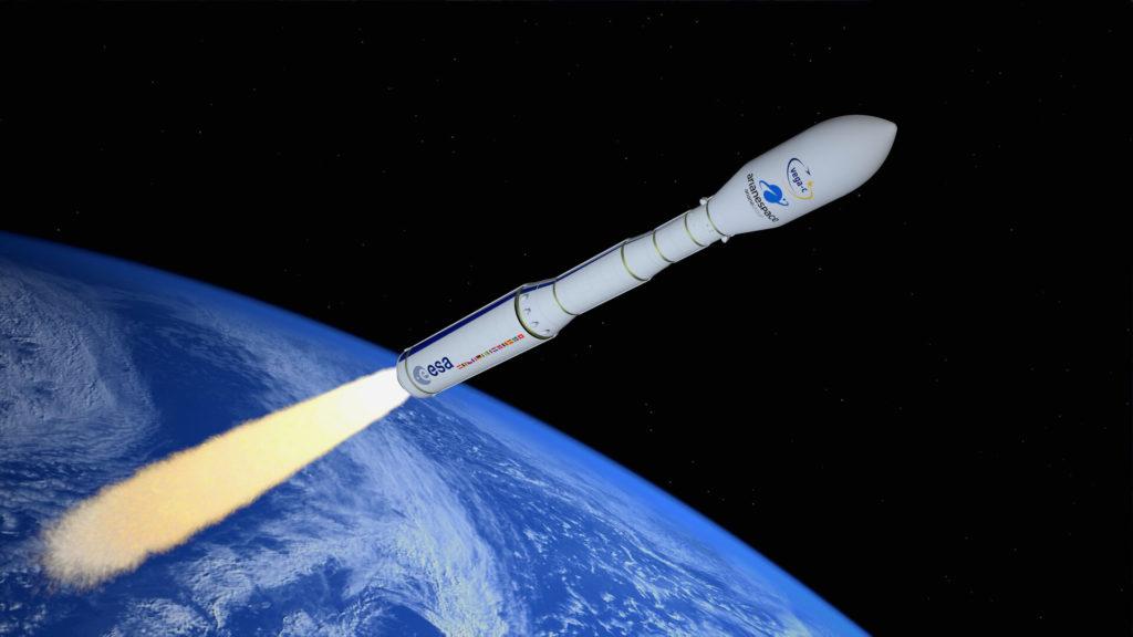 Il vettore Vega dell'Agenzia Spaziale Europea (ESA) è frutto della collaborazione europea in ambito spaziale. Sviluppato dall'italiana ELV (70% Avio e 30% Agenzia Spaziale Italiana), vede inoltre la partecipazione di Francia, Belgio, Spagna, Paesi Bassi, Svizzera e Svezia. (fonte: ESA)