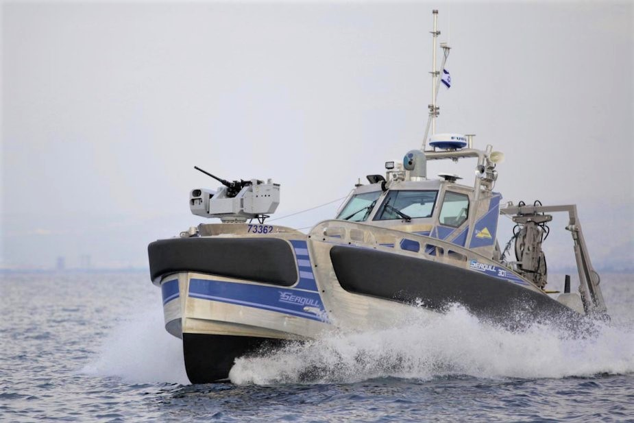 L'USV (Unmanned Surface Vessel) Seagull. (Elbit Systems)