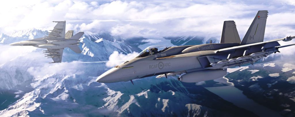 Ancora due Super Hornet: quello in primo piano è dotato di pod IRST (Infra-Red Search and Track). (Boeing)