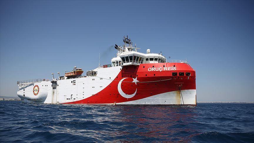 La nave turca Oruc Reis. (Foto da: Anadolu Agency)  UE riunione emergenza Turchia  UE riunione emergenza Turchia  UE riunione emergenza Turchia  UE riunione emergenza Turchia