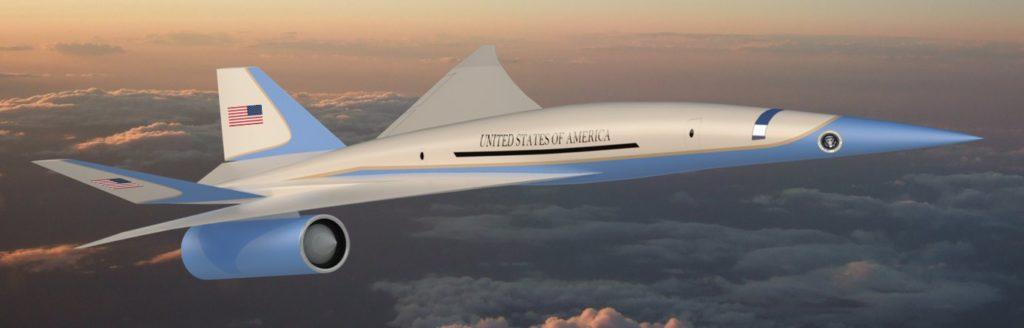 Un'immagine dell'aereo da trasporto executive supersonico low-boom che sarà sviluppato dalla start-up Exosonic. (Immagine da Exosonic)