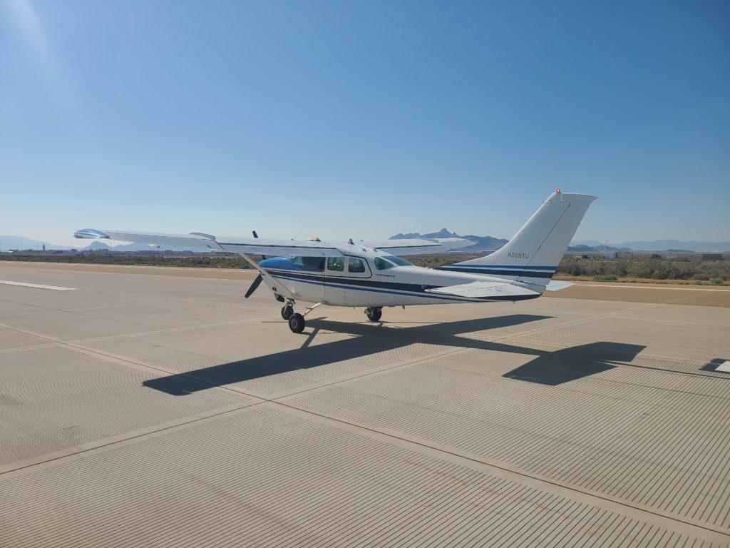 Nella prova del 24 settembre, il sistema ROBOpilot, installato su un Cessna 206, ha volato per oltre 2 ore. (Foto AFRL)