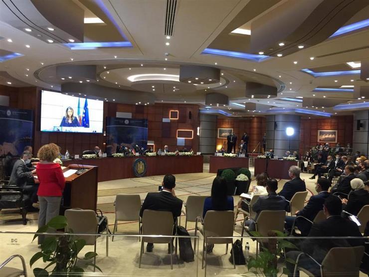 Una foto della video conferenza del EastMed Gas Forum. (Foto da account Twitter di See News Egypt)