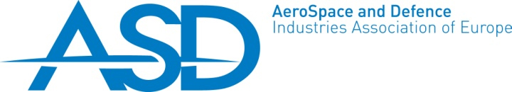 Logo della ASD (AeroSpace and Defence Industries Association of Europe).