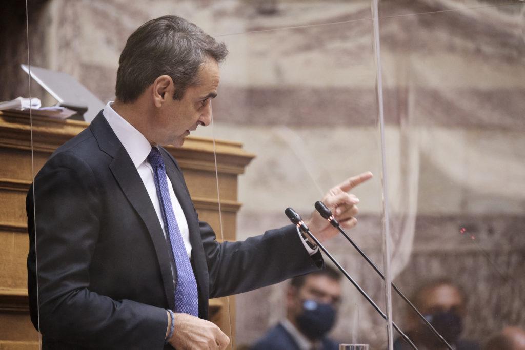 Il primo ministro greco Kyriakos Mitsotakis. (Foto da Twitter)  Grecia embargo armi Turchia   Grecia embargo armi Turchia   Grecia embargo armi Turchia   Grecia embargo armi Turchia