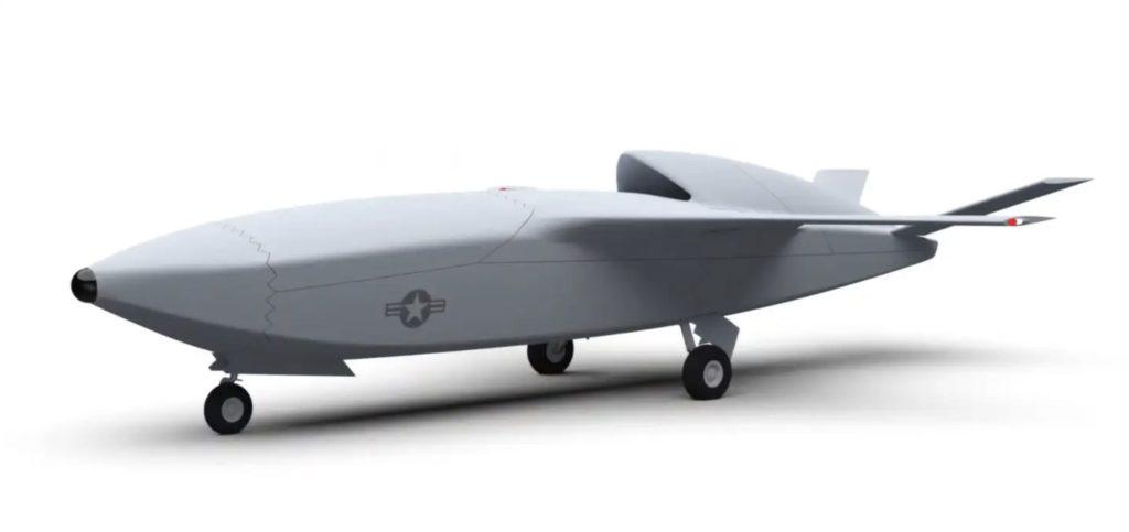 """Concept art di un ipotetico drone del tipo """"loyal wingman"""" tratta dal video dell'Air Force Research Laboratory (AFRL)."""