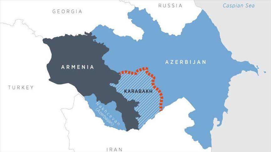 Una mappa dell'area interessata dal conflitto. (Immagine da Anadolu Agency)