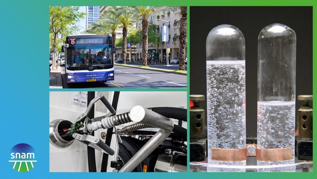 """I tre accordi sono stati conclusi con le società Delek Drilling e Dan per la mobilità a gas naturale liquefatto per il trasporto pubblico; con Dan per lo sviluppo di un progetto di """"green mobility""""; con la start-up H2Pro per la ricerca sull'idrogeno. (Foto da Snam)"""