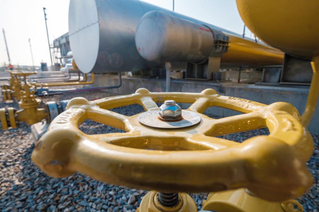 Valvola alla stazione di compressione di Kipoi, ottobre 2019. (Foto da TAP)