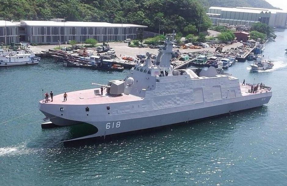 Tuo Jiang corvette della Taiwan Navy entrata in servizio verso la fine del 2014.