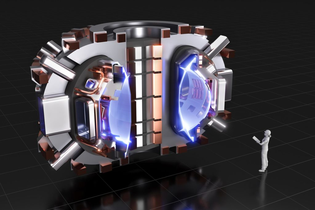 Il tokamak SPARC attualmente in fase di progettazione da parte di un team del Massachusetts Institute of Technology e Commonwealth Fusion Systems. (Immagine da CFS / MIT-PSFC)
