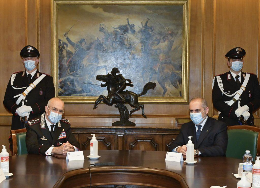 La firma del protocollo fra Carabinieri e Terna è avvenuta il 7 gennaio 2021 alla presenza del Comandante Generale dell'Arma, Gen. C.A. Giovanni Nistri, e dell'Amministratore Delegato di Terna, Stefano Donnarumma. (Carabinieri)