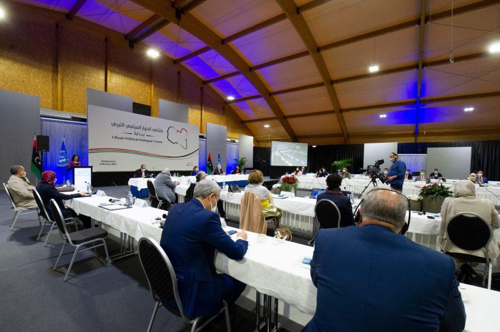 Un'immagine dal Libyan Political Dialogue Forum (Foto da account Twitter UNSMIL).  governo transizione  governo transizione  governo transizione