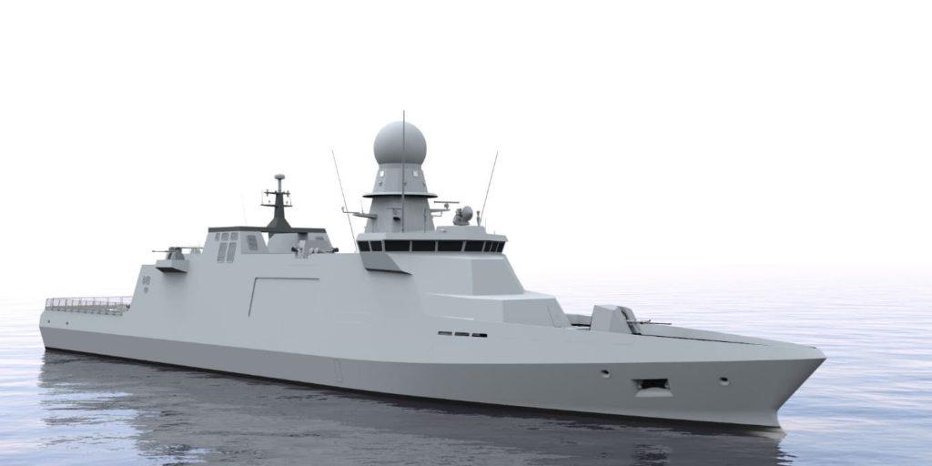 Primo rendering ufficiale del design della EPC European Patrol Corvette (progetto PESCO). (Immagine da Naviris)