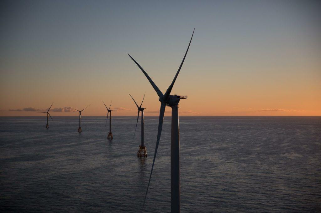 """Centrale """"Offshore"""" negli Stati Uniti (Foto da account Facebook della General Electric)  Futuro energia eolica Haliade-X Futuro energia eolica Haliade-X"""