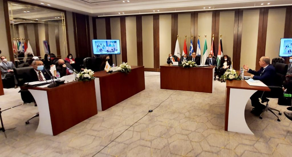 (Foto: account Twitter Ministero del Petrolio egiziano)  EastMed Gas Forum