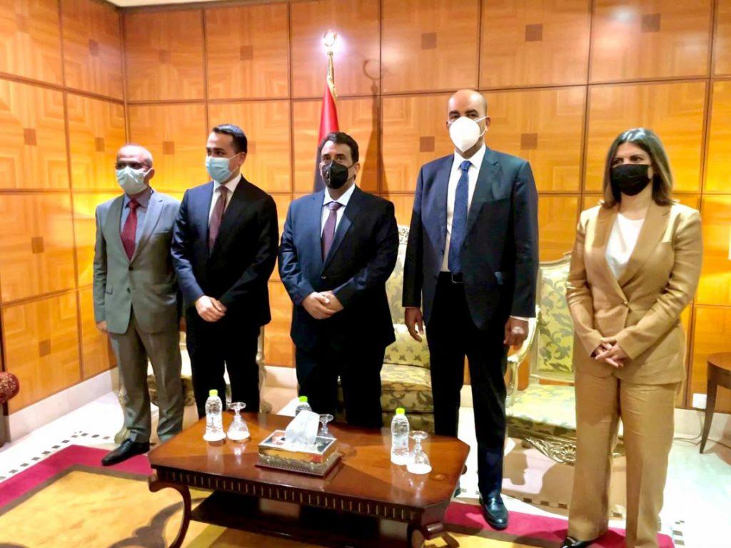 Un'altra immagine della visita del ministro degli Esteri Di Maio a Tripoli (Fonte: MAECI).