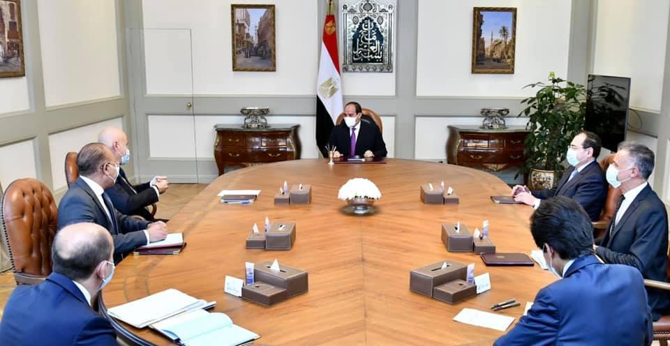Un momento dell'incontro, avvenuto il 15 aprile in Egitto, tra la delegazione egiziana e quella di ENI. (Fonte: Presidenza della Repubblica Araba d'Egitto)