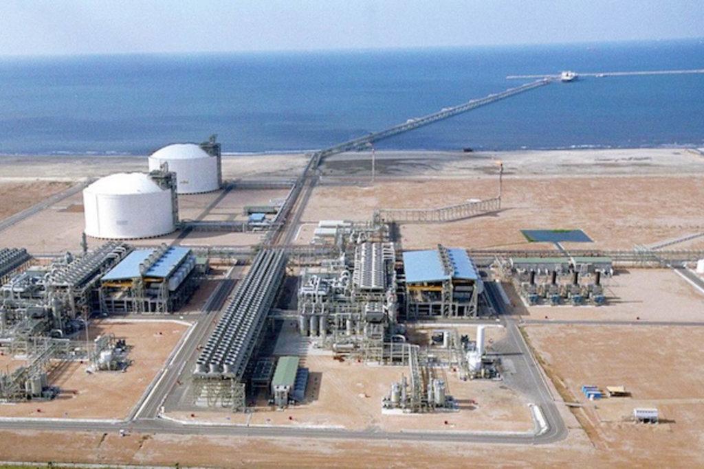 L'impianto di Damietta di gas naturale liquefatto (GNL).