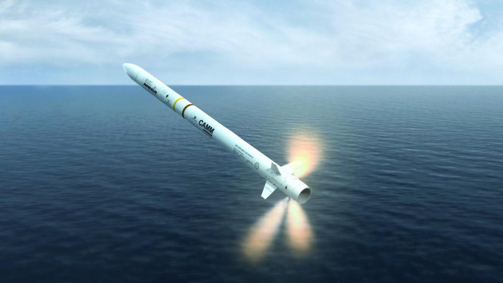 Il sistema di difesa aerea Sea Ceptor utilizza il missile CAMM (Common Anti-Air Modular Missile). (Fonte: MBDA)