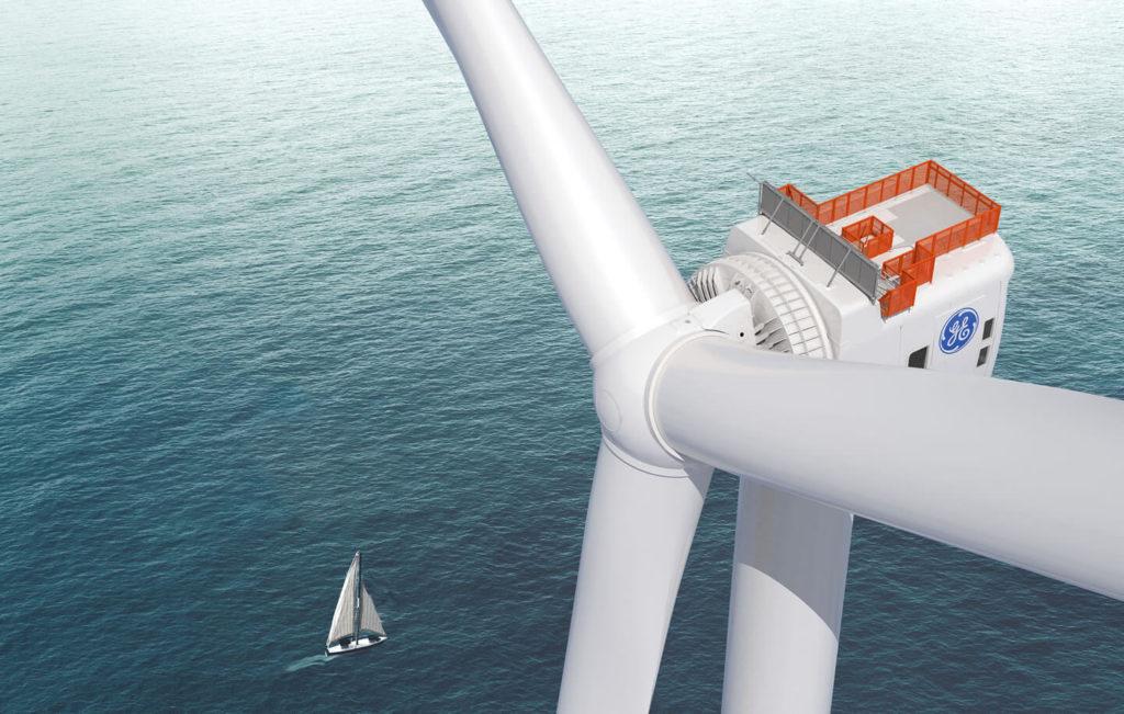 La turbina Haliade-X della General Electric. (Fonte: General Electric)