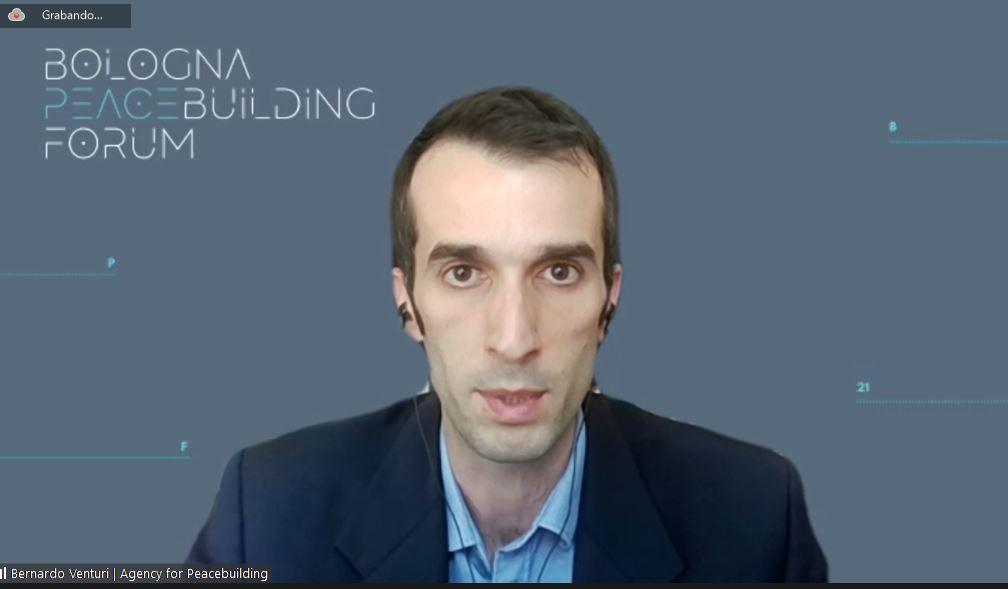 Bernardo Venturi, direttore di Agency for Peacebuilding (AP), prima organizzazione italiana per la pace.
