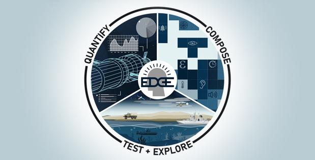 Il logo del progetto EDGE (Enhancing Design for Graceful Extensibility) della DARPA. (Fonte: DARPA)