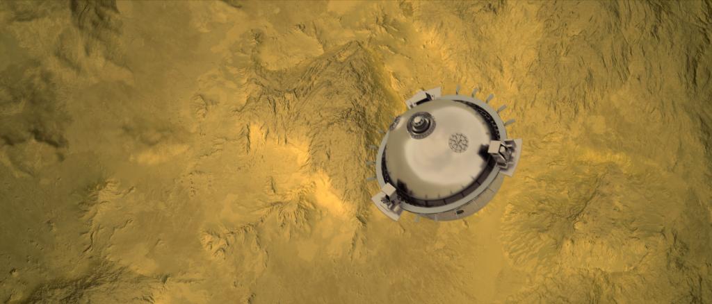 Sonda della missione DAVINCI+. (Fonte NASA)
