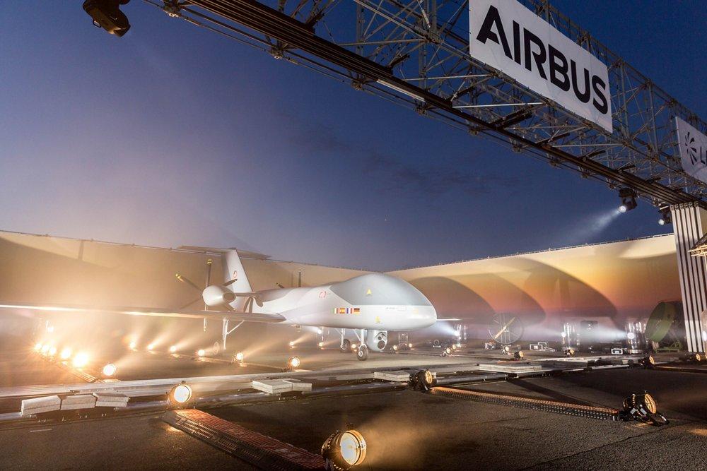 Il primo modello in scala reale del velivolo a pilotaggio remoto di media altitudine e long-endurance (MALE RPAS) è stato presentato il 26 aprile 2018 durante una cerimonia tenutasi all'ILA Berlin Air Show 2018. (Fonte: Airbus)