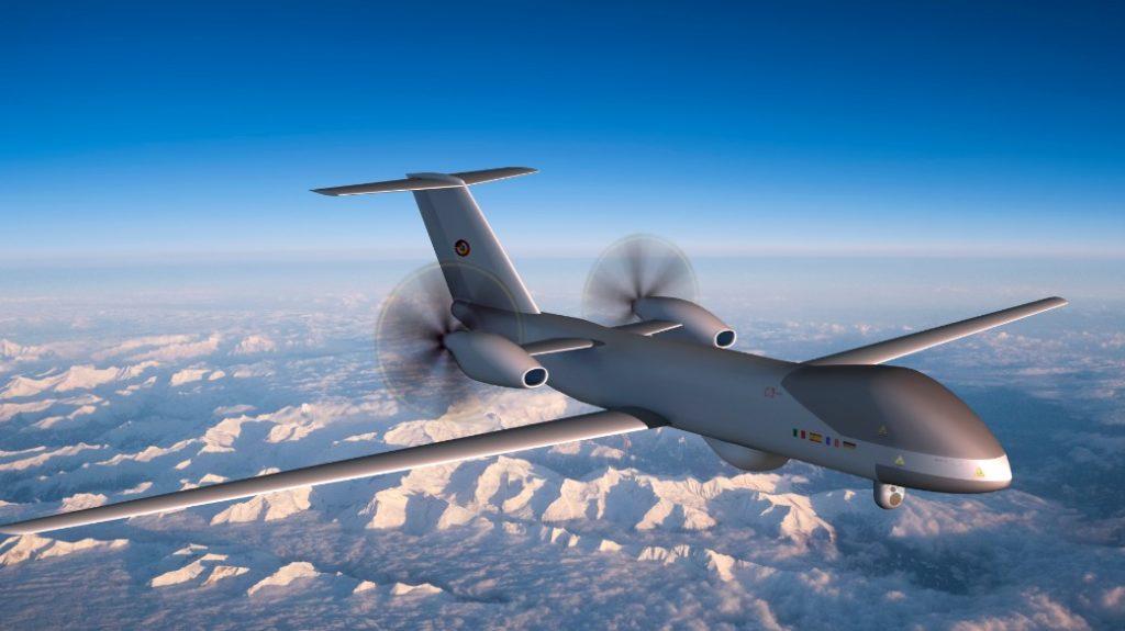 Anticipazione artistica dell'Eurodrone. (Fonte: OCCAR)