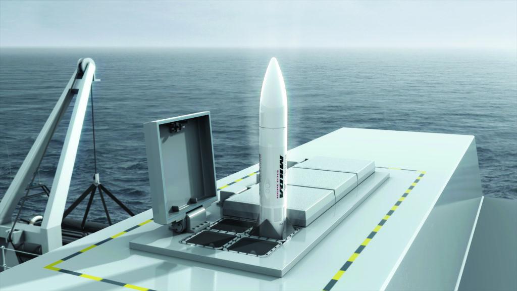 Il Sea Ceptor opererà dai lanciatori Sylver e Mk41 utilizzando una configurazione quad-pack, ma sono disponibili anche altre configurazioni di canister. (Fonte: MBDA UK)