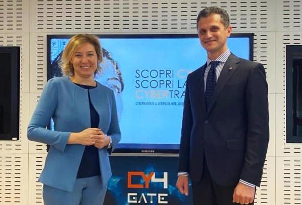 Domitilla Benigni e Emanuele Galtieri, rispettivamente Presidente e CEO di Cy4Gate.