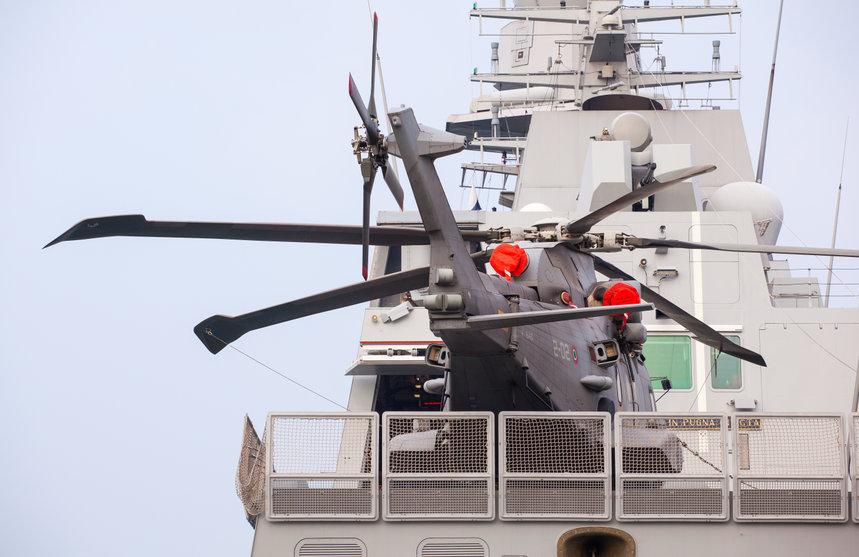 La fregata Virginio Fasan della Marina italiana. (Fonte: bepsphoto/123RF.COM)