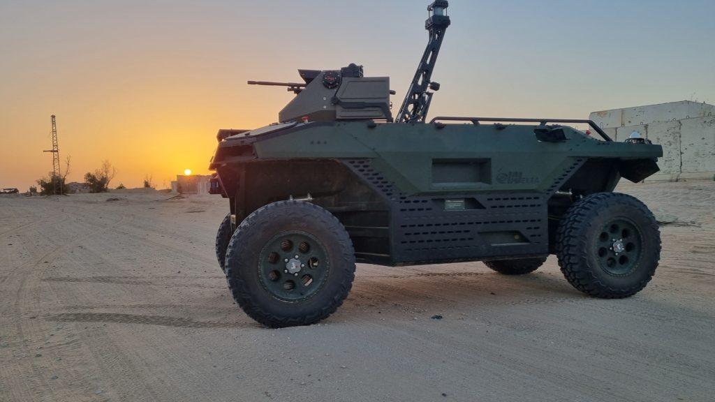 "Il veicolo terrestre ""unmanned"" REX MK II di Israel Aerospace Industries (Fonte: IAI)"